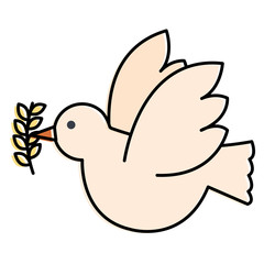 peace dove with olive branch vector illustration design