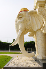 White Elephant Statue Decorated in front of the building.