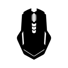 Gaming mouse, top view, shade picture