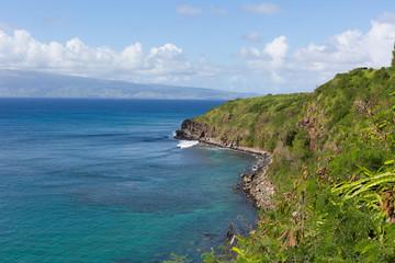 Panorama of the Coastline in Maui, Hawaii