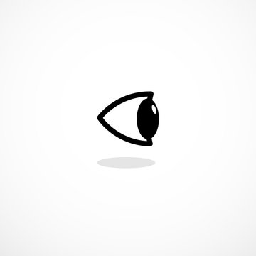 Simple side eye icon isllustration isolated on background