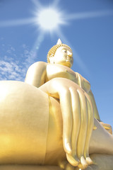 Big Buddha statue in Thailand,