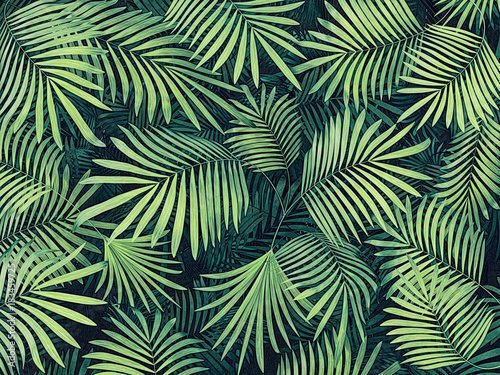 Wall mural tropical  background