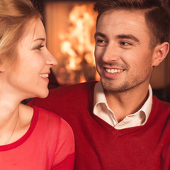 Couple celebrating new year
