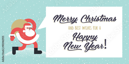 Christmas and new years flat design style greeting card vector christmas and new years flat design style greeting card vector illustration template for greeting cards m4hsunfo Image collections