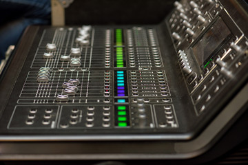 Stage controller with sliders.