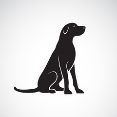 Vector of a labrador retriever dog isolated on a white background. Pet. Animals.