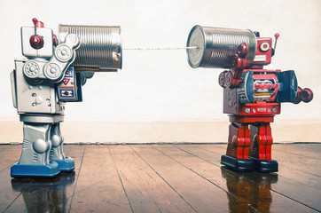 tin can phone robots
