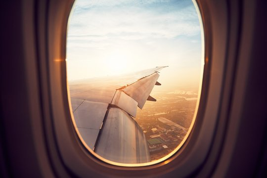 View from airplane window