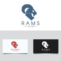 Ram Logo Template. Three color versions