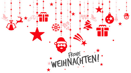 Wall Mural - Rote Elemente frohe Weihnachten