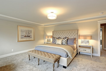 Luxury master bedroom interior .