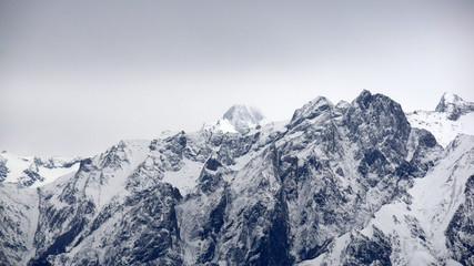 Panorama delle Alpi Lecchesi in inverno