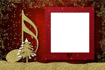 Christmas frame musical card
