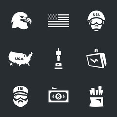 Vector Set of America Icons.