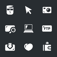 Vector Set of Digital Video Icons.