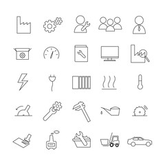 Icon-Set Industrie & Produktion