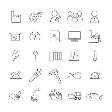 Icon-Set Industrie & Produktion