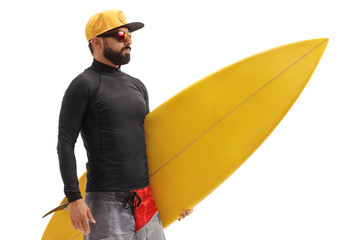 Surfer with a surfboard
