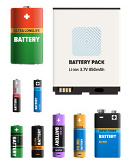 Powerful Batteries of Different Shapes Collection