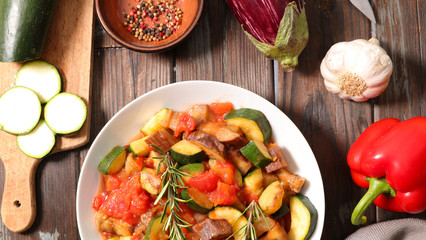 vegetable and rosemary