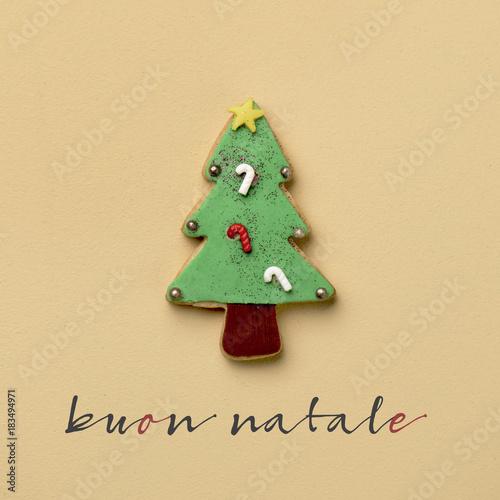 Immagini Natale Free.Text Buon Natale Merry Christmas In Italian Stock Photo