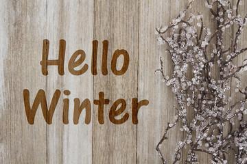 Hello Winter Message