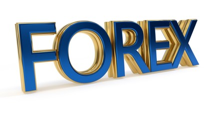 Forex symbols gold writing background work, 3d rendering