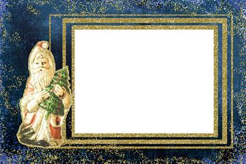 Christmas frame greeting card. Santa.