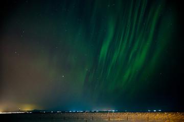 Polarlicht über Island (Aurora borealis)