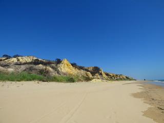 Mazagón en Huelva (Andalucia, España), zona costera de Moguer y Palos de la Frontera junto Parque Doñana