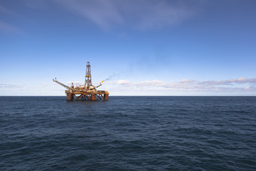 Oil platform at sunny day