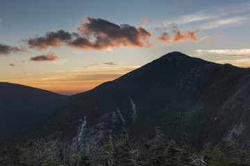 Mt. Marcy Silhouette at Sunset, Adirondack Mountains