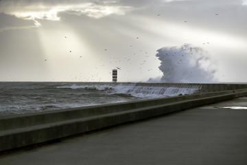Presage of storm at sea