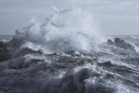 Rough sea on the coast