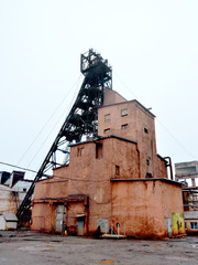 metal mound of iron ore mine