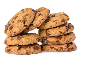 pile of delicious chocolate chip cookies