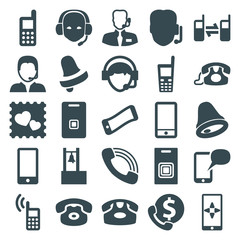Set of 25 call filled icons