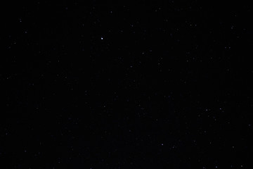 A wide field astrophotographic image showing real stars