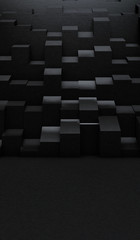 Abstract Modern geometric background with shadow. 3d Render