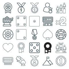 Set of 25 win outline icons