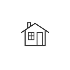 Home icon isolated on white background. Vector illustration.
