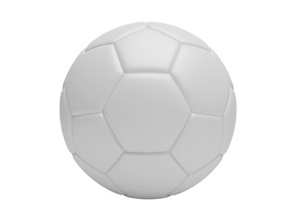 White soccer ball, isolated on white background.