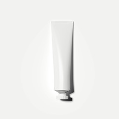 White cosmetic tube. 3d rendering