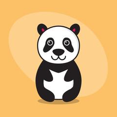 Panda cartoon flat card