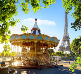 Wall Mural - Carousel in France