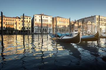 Grand Canal in Venice at sunset, Italy