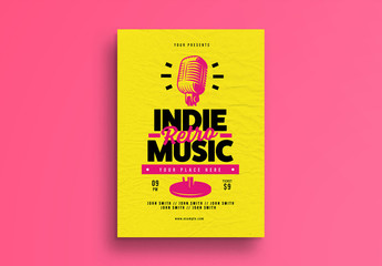 Indie Retro Music Flyer