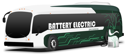 Electric bus - charging station