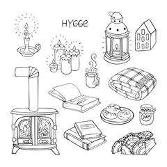 set of hygge doodles.